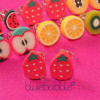 FUNKY FRUIT SALAD EARRINGS CUTE KITSCH KAWAII COOL RETRO FUN NOVELTY GIRLS GIFT
