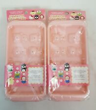 RARE Sanrio HELLO KITTY & CHARACTERS 3D Ice Cube Trays Set of 2 Japan NEW SEALED