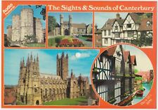 Novelty Audio Record 1982 Canterbury Sights & Sounds, Multiview Kent Postcard