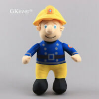 Fireman Sam Plush Toy Firefighter Soft Stuffed Doll 25cm Figure Kids Xmas Gift