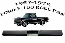 1967-1972 Ford F100 Fleetside Truck Steel Rollpan w/Plate Box Center roll pan