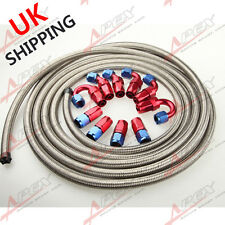 AN6 6AN STAINLESS STEEL BRAIDED OIL/FUEL HOSE+ FITTING HOSE END ADAPTOR KIT UK