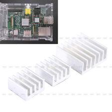 3Pcs Disipador Adhesivo Enfriador De Aluminio Calor Refrigerar Para Raspberry Pi