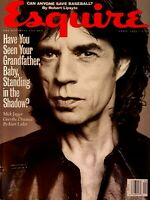 Esquire Magazine April 1993. Mick Jagger cover and interview. Rolling Stones.