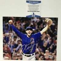 Autographed/Signed KRIS BRYANT Chicago Cubs 8x10 World Series Photo Beckett COA