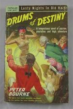 DRUMS OF DESTINY PETER BOURNE 1950 POPULAR LIBRARY 1ST ED PB EARLE BERGEY COVER