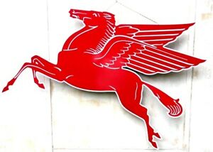 MOBILGAS OIL ENAMEL PEGASUS TIN SIGN