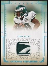 2007 Tony Hunt National Treasures Rookie Reebok Brand Logo Patch 10/10 Eagles RC