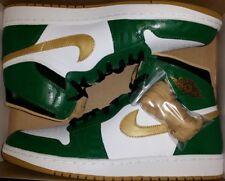 Jordan 1 Retro High OG Celtics 13 bred royal black toe gold shadow satin top 3 4