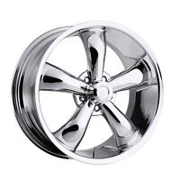 "20"" Vision 142 Legend 5 Chrome Wheel 20x8.5 5x5 10mm Jeep Wrangler 5 Lug Rim"