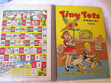 TINY TOTS ANNUAL 1958  vintage children's large HC  stories, poems, puzzles