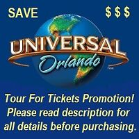 UNIVERSAL ORLANDO 2 PARK, 2-DAY PARK-TO-PARK: ONLY $249 FOR 2 TICKETS!  **READ**