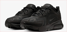 """🔥100% Auth Nike Air Max 200 Running """"BLACK OUT"""" in a Triple Black Colorway! 🔥"""