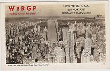 RARE HAM RADIO OPERATOR REAL PHOTO, EMPIRE STATE BLDG NORTH VIEW, NYC