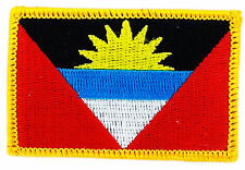 FLAG PATCH PATCHES ANTIGUA BARBUDA  IRON ON COUNTRY EMBROIDERED WORLD FLAG