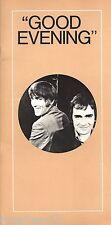 "Peter Cook ""GOOD EVENING"" Dudley Moore 1973 Broadway Souvenir Program"