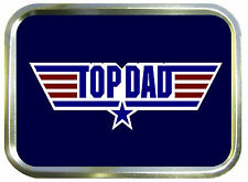 TOP DAD,TOP GUN  2oz GOLD TOBACCO TIN,BAIT TIN,SEWING TIN,BACCY TIN