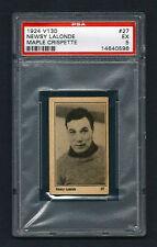 PSA 5 NEWSY LaLONDE 1924 Maple Crispette Hockey Card #27