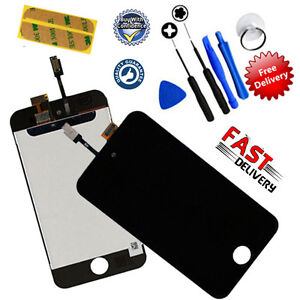 iPod Touch 4 4th Gen Digitiser + LCD Screen Assembly Replacement UK - BLACK