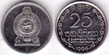 Sri Lanka 1996 25 cents KM-141a Nickel clad steel BUNC - US Seller