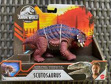 Jurassic World Scutosaurus Savage Strike Mattel Dinosaur Figure 2020 New HTF