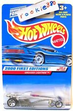 2000 Hot Wheels FIRST EDITIONS #95 ∞ GREASED LIGHTNIN' ∞ SILVER 5sp's