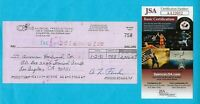 Leo Fender 1981 Signed G&L Check For Guitar Wood JSA Authentication COA