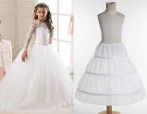 RULTA A-line 3 Hoops Wedding Flower Girl Underskirt Petticoat Kids Crinoline M1