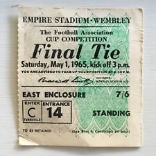 1965 FA Cup Final Liverpool vs. Leeds Ticket Stub Wembley Empire Stadium