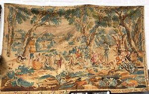 Artis Flora Aubusson Hunters Rest Tapestry Hand Printed Linen Wall Hanging