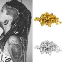 Clips Hair Braid Cuff Decorative Tube Ring Bead DIY Dreadlock Aluminum