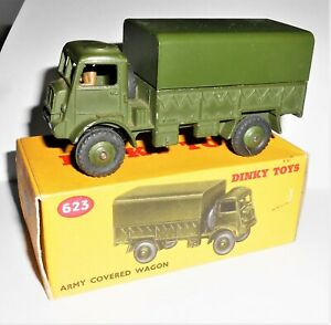 DINKY TOYS No.623 ARMY COVERED WAGON - BOXED - EX SHOP STOCK