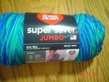 1 Skein of Red Heart Super Saver JUMBO Worsted Weight Yarn in Macaw   #3944