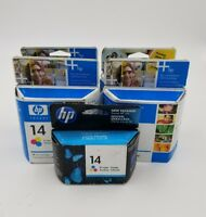 5x HP 14 Tri-Color Ink Cartridge C5010AN Genuine New