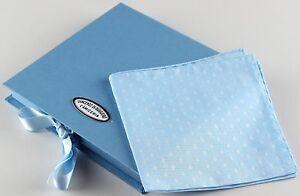 NWT VINCENZO DI RUGGIERO SQUARE POCKET pochette cotton striped handmade Italy