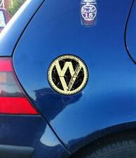 VW GOLF FUEL FLAP STICKER, OLD SCHOOL VINTAGE, Unique crackled aged effect, MK4!