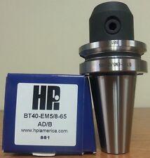 "HPI Pioneer BT40 5/8"" End Mill Holder 2.56"" Coolant Thru DIN AD/B **NEW**"