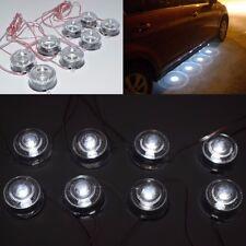 12V 8 LED BULL EYE WHITE MARKER CAR UNDER BODY DOOR SIDE DECORATION LIGHT