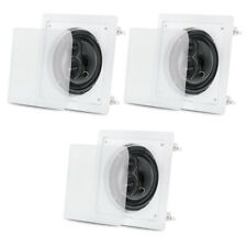 "Acoustic Audio CS-I63S Flush Mount In Ceiling Speakers with 6.5"" Woofers 3 Pack"