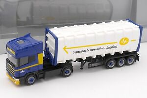 HERPA HO 1/87 - CAMION SCANIA SEMI REMORQUE ASG TRANSPORT SPEDITION LAGRING