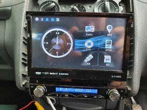 XTRONS Single Din 7inch Detachable Touch Screen Flip Car Radio  D 714 SG Bluetoo