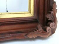 ANTIQUE HAND CARVED  MAHOGANY  WOOD FRAME FOR PAINTING  10 X 8 INCH