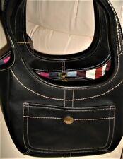 Coach Ergo Glove Tanned Legacy Black Leather Hobo-Shoulder Bag. Rare.