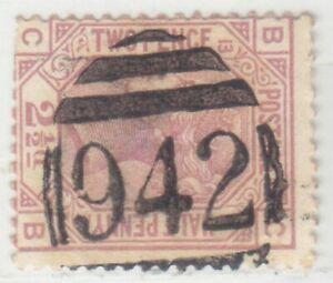 CYPRUS 1876 - 1879  ISSUE 2½ PENNY '942' LARNACA POSTMARK SG.Z18 PLATE 13 RR