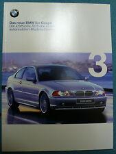 Prospekt BMW 3er E46 Coupe (318Ci,320Ci,323Ci,328Ci), 2.1999, 46 Seiten
