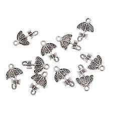 10pcs Cute Umbrella Alloy Beads Tibetan Silver Charms Pendant DIY 15*12mm