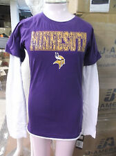 NFL Team Apparel Minnesota Vikings Girls Youth Long Sleeve Shirt $24.99 NWT S