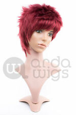 Heat-resistant Gaara Naruto Natural Spikey Layered Boy-cut Anime Cosplay Wig