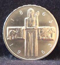 1963 Switzerland silver 5 francs, Red Cross, choice white UNC, KM-51 (SZ9)