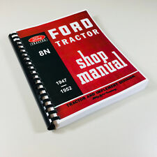 Ford 8n Tractor Shop Manual Service Technical Repair Print 2n 9n Compatible
